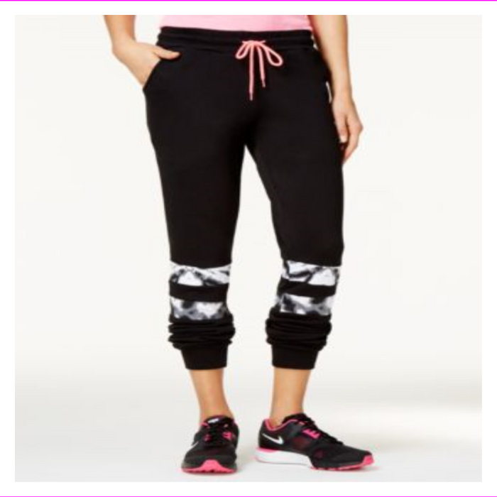 Material Girl Juniors Mesh-Inset active Sweatpants