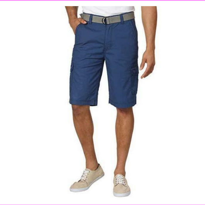 Wear First Men's Two back pockets Legacy Belted Cargo Shorts