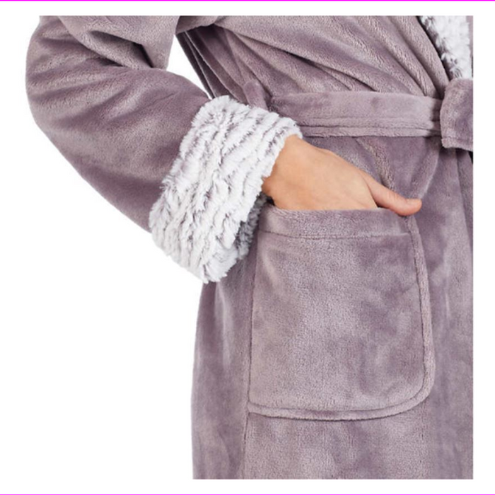 Carole Hochman Women's Ladies' Plush Wrap Robe