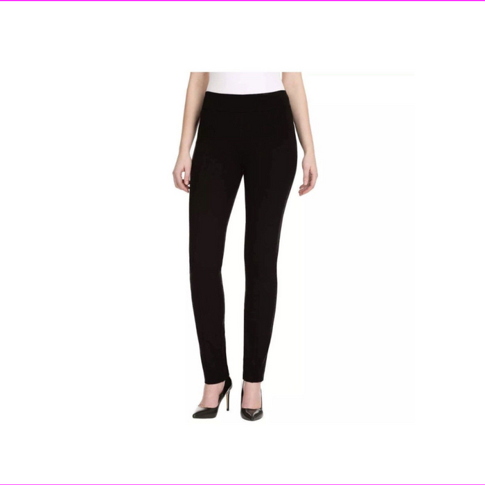 HILARY RADLEY SLIM FIT PULL ON PONTE Skiny PANT Black M