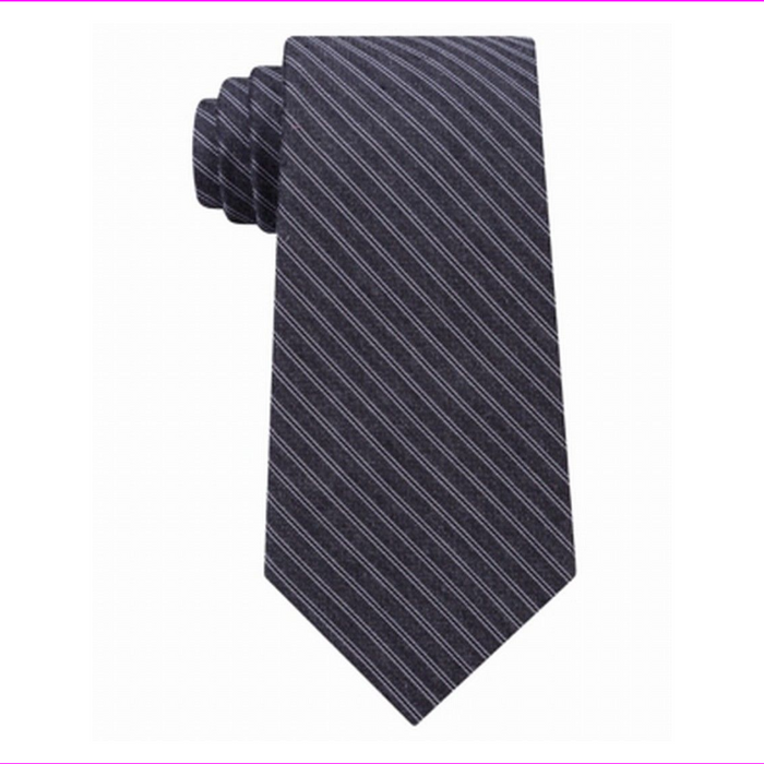 Michael Kors Fine Stripe Melange Men's Neck Tie Silk Black