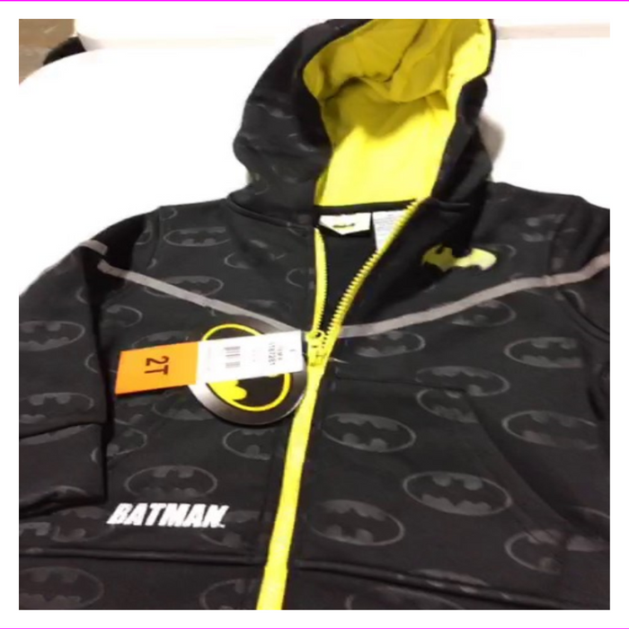 Boy's Batman Full Zip Hoodie Sweatshirt