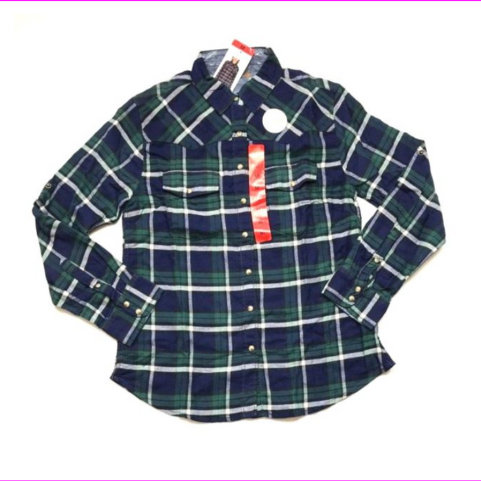 Jachs Girlfriend  Girl's Flannel Shirts