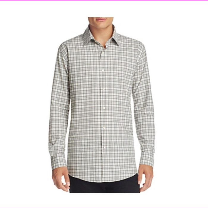 Bloomingdales Plaid Classic Fit Down Shirt