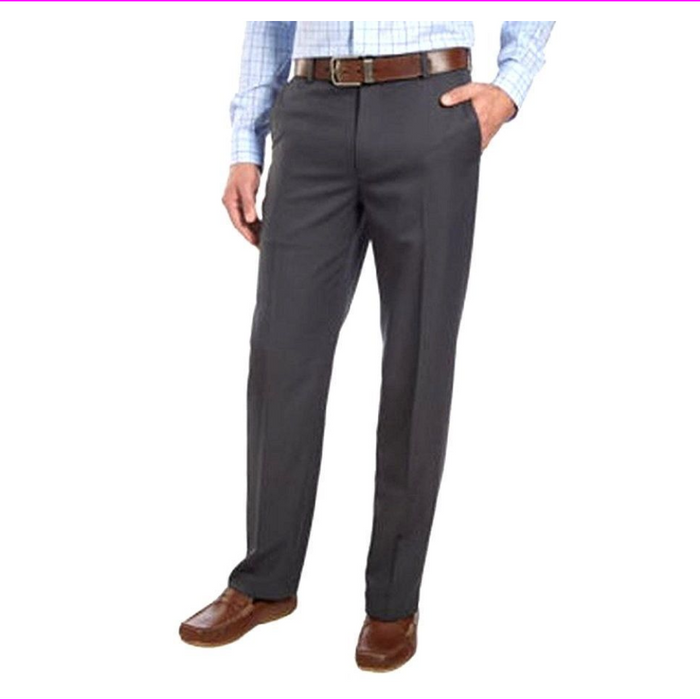 Izod Men's Straight Fit Flat Front Chino Pants
