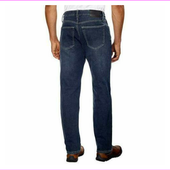 Mens Weatherproof Vintage Straight Leg Fleece Lined Jeans