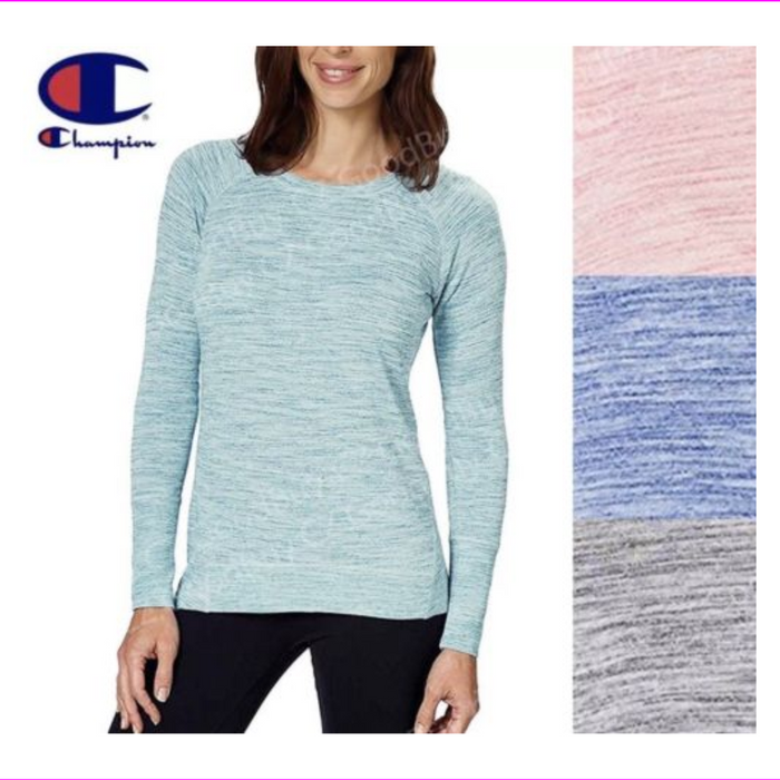 Champion Ladies' High-Low Hemline Crew Long Sleeve Jewel Blue S