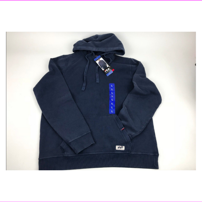 Mens Fila Hooded Sweatshirt Kangaroo Pocket & Thermal Lining in Hood