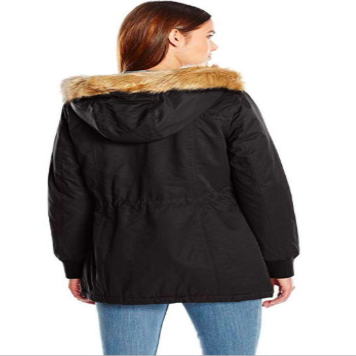 Levi's Women's Cotton Nylon Faux Fur Hooded Sherpa Parka Jacket