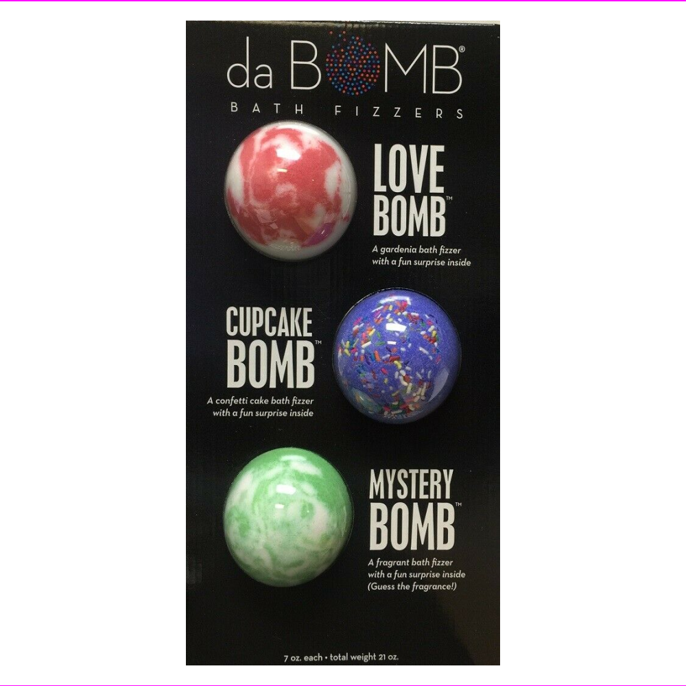 da BOMB Bath Fizzers 3 Piece Set