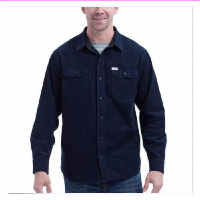 Eddie Bauer Mens Shirt Crosscut Cord Comfortable Layering Piece