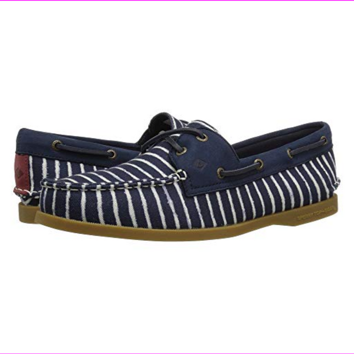 Sperry  Top-Sider A/O Indigo Stripe Women's Lace up casual Shoes Navy 8.5