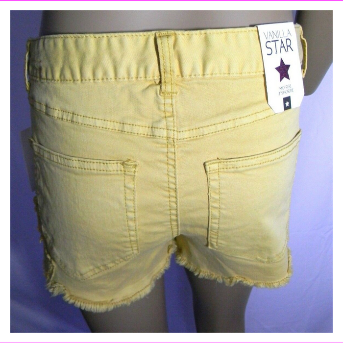 Vanilla Star Shortie Shorts Juniors Crochet-Trim