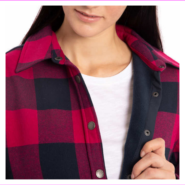 Orvis women shirt jacket plus buffalo plaid fleece lined
