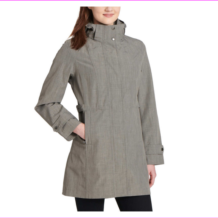 Women's Kirkland Signature Waterproof Wind Resistant Hooded Rain COAT