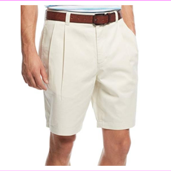 Club Room Men's Double-Pleated Cotton Shorts
