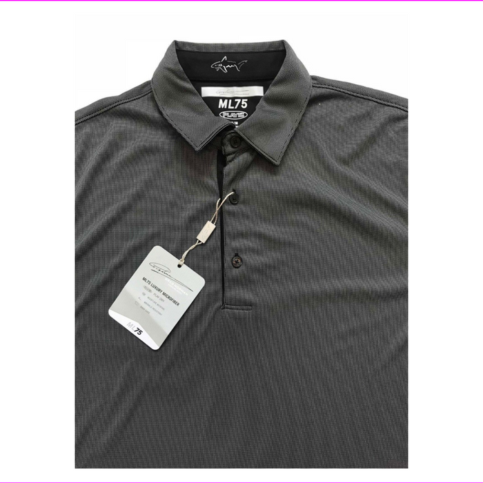 Greg Norman Men's Luxury Microfiber Short Sleeve Polo Shirt Black XXL