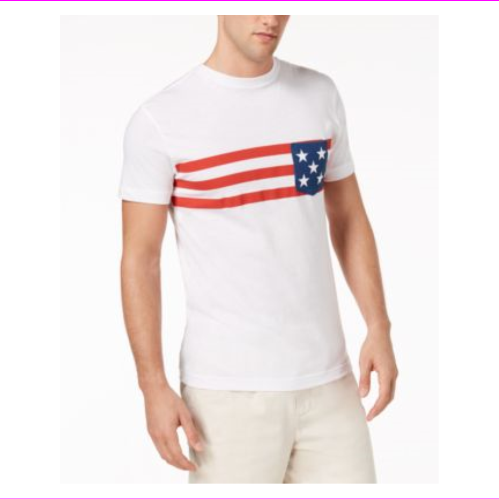 Club Room Men's Stars and Stripes Americana T-Shirt, Created for Macy's
