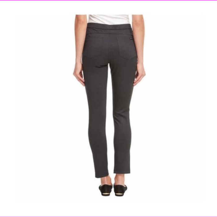 DKNY Ladies' Pull-on Ponte Pant Charcoal Texture M
