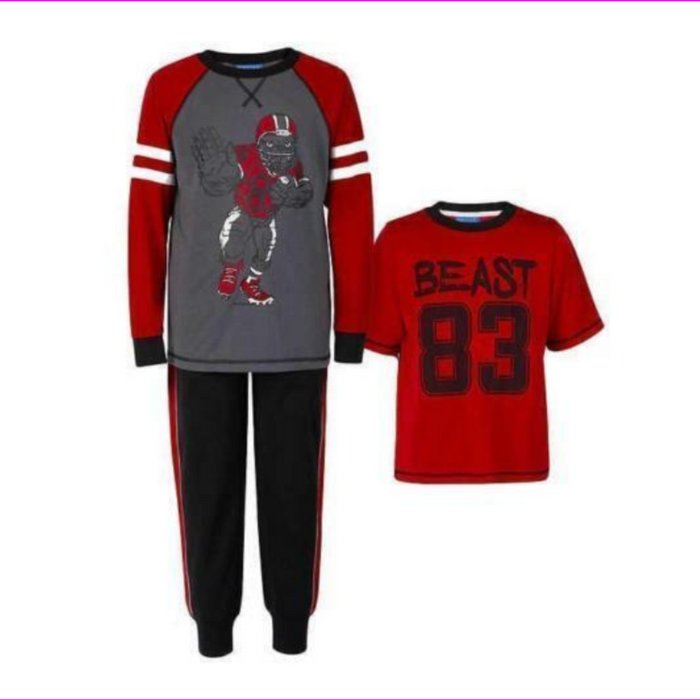 Saint Eve Comfortable Youth 3 Piece Pajama Set