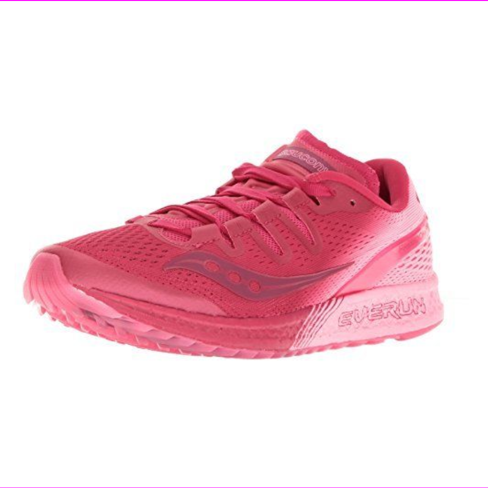 Saucony Womens Freedom ISO Running Shoes Berry/Pink