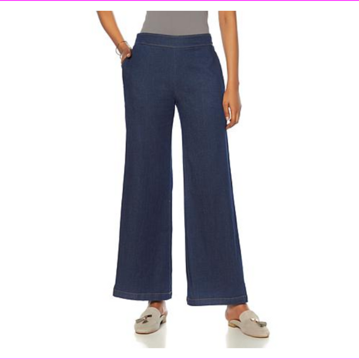 Wendy Williams Women's Pull-on Full Length Wide-Leg Pant