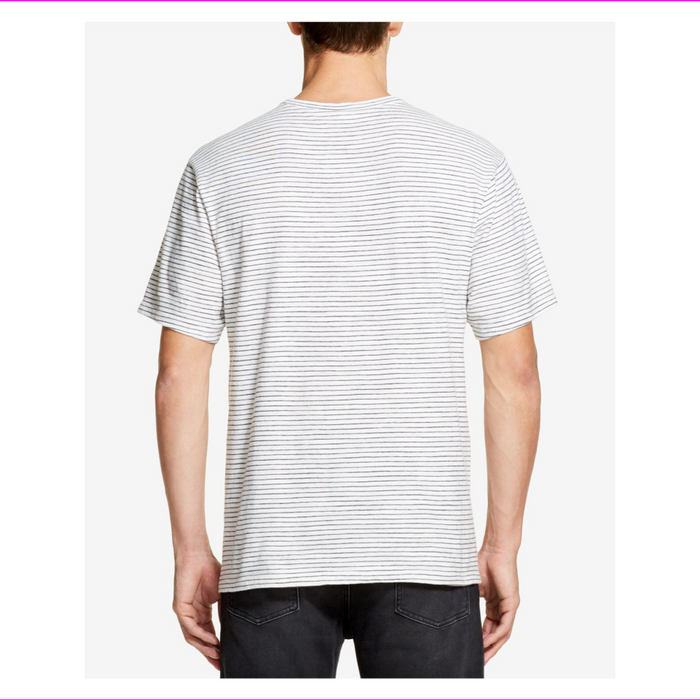DKNY Mens Short Sleeve Twisted Textured Stripe T-Shirt