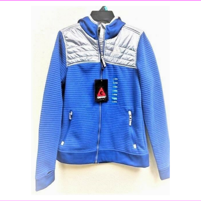 Gerry Kid's Full Zipped Hoodie Jacket Blue/Gray L-14/16