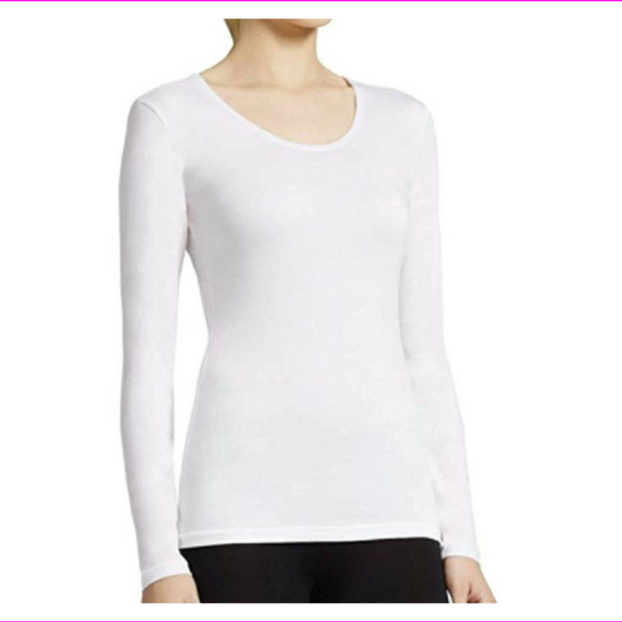 Women's 32 Degrees Heat  Thermal Base Scoop Neck Shirt Long Sleeve