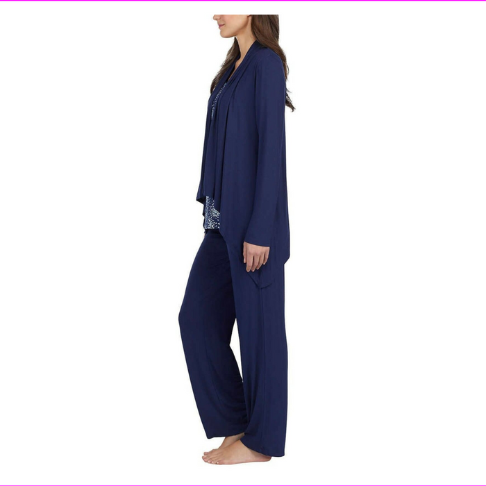 Carole Hochman Women 3 Pieces Relaxed Fit Pajama Set