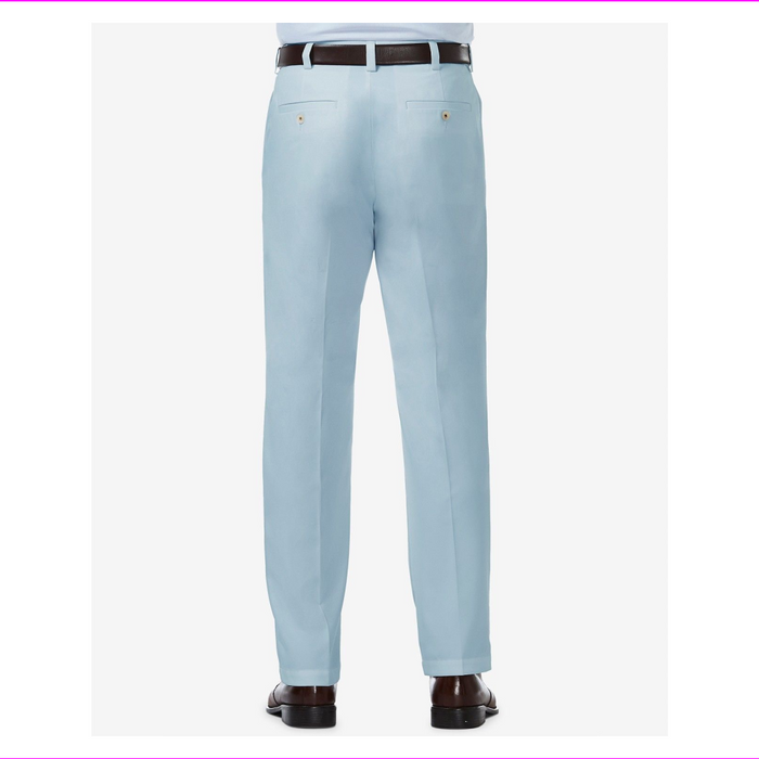 Hagger men's Flat front Pants 36W-32L Light Blue