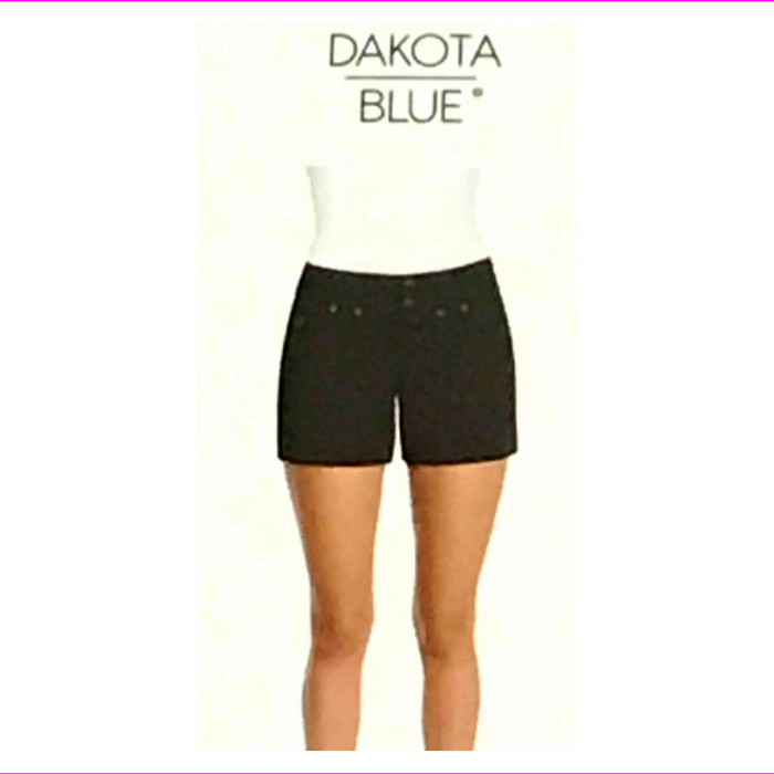Dakota Blue Ladies' Flat Front Double Button Short