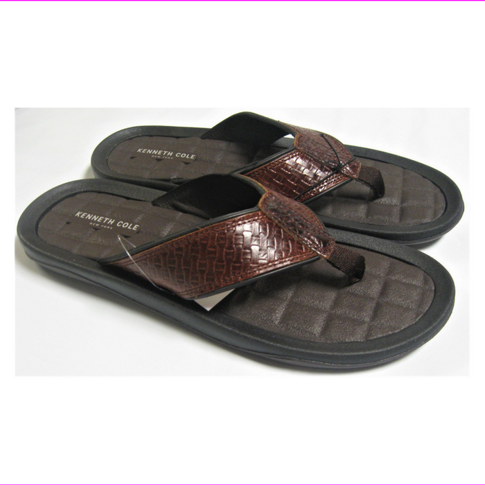 Kenneth Cole New York Men's Leather Flip Flop