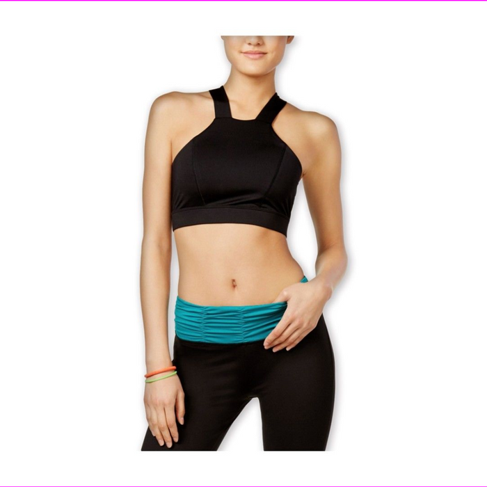 energie Women's Delany Contrast Mesh-Back Stretch Sports Bra