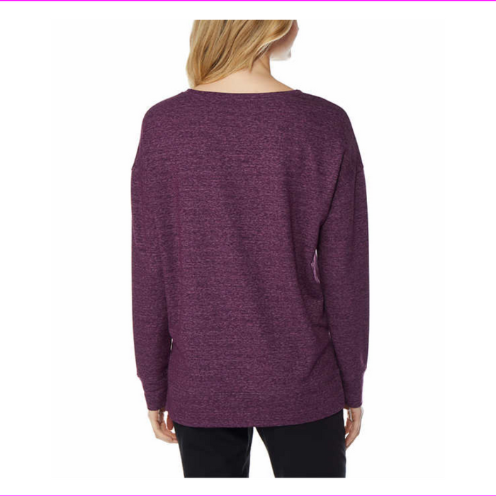 32 Degrees Heat Ladies' Fleece Pullover Heather Purple L