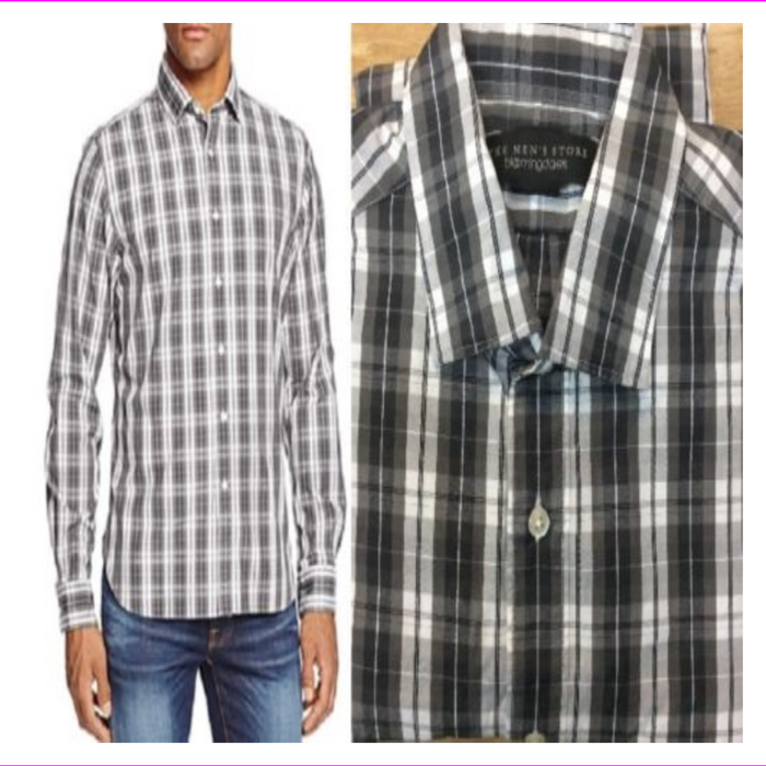 Bloomingdale's Men's Plaid Button Down