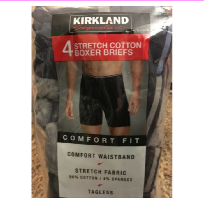Kirkland Signature 4 PK MEN'S BOXER BRIEF