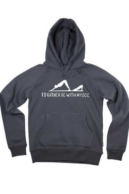 Downward Dog Charcoal Hoodie