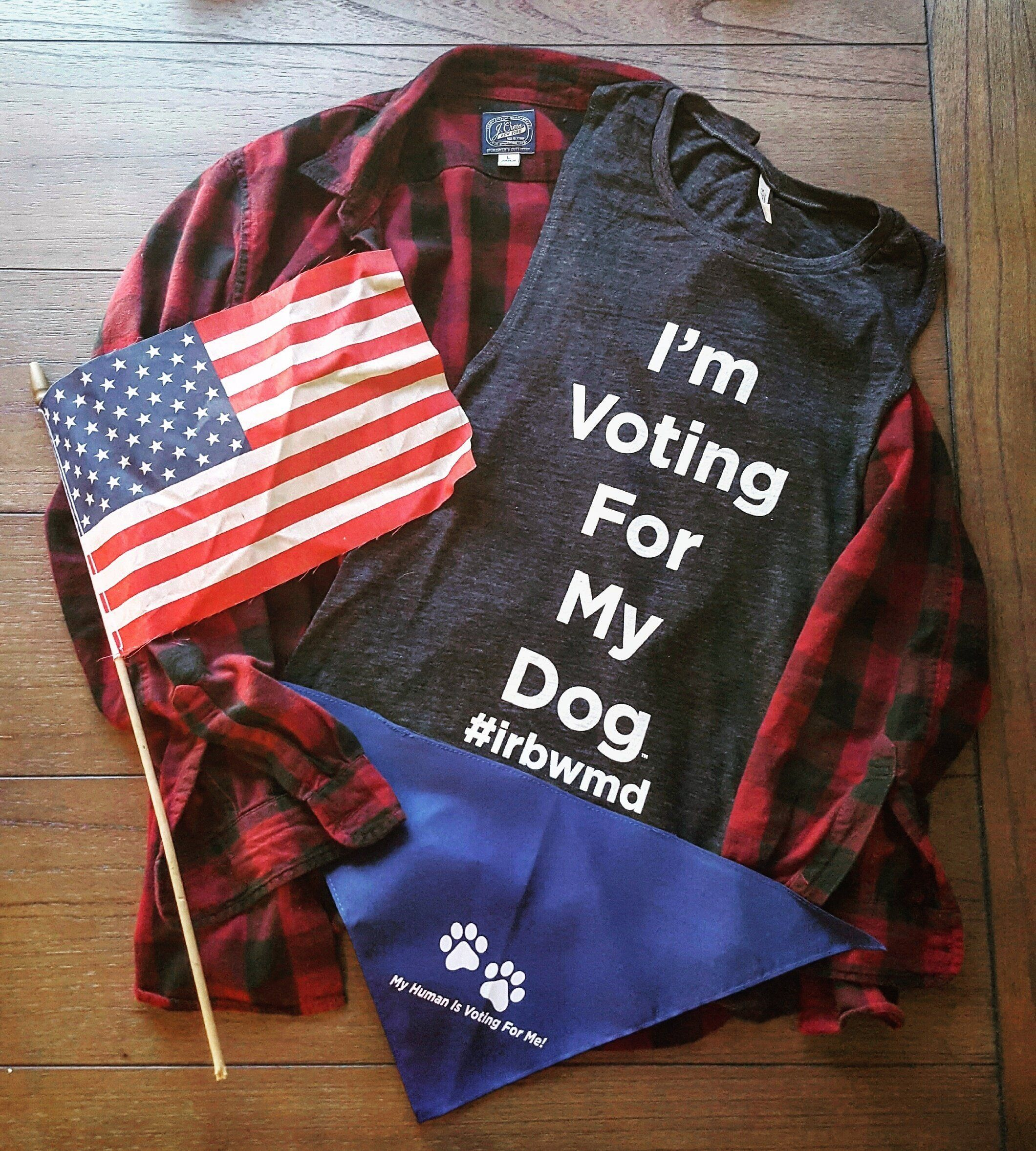 I'm Voting For My Dog Muscle Tank