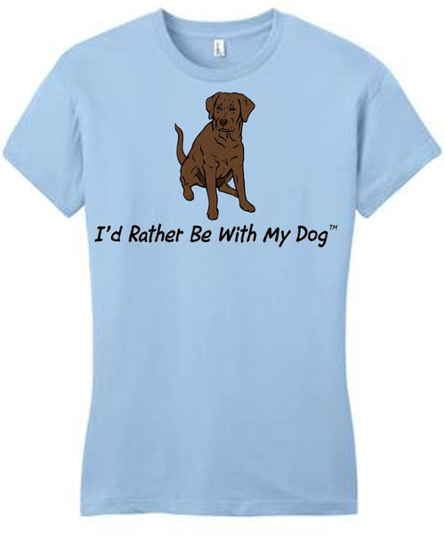 Chocolate Lab Ladies T