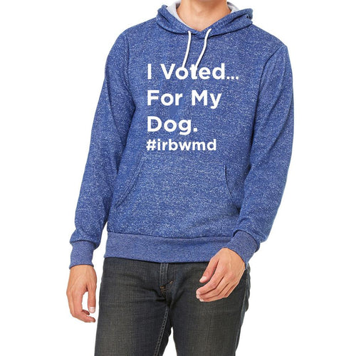 I Voted For My Dog Digital Fleece