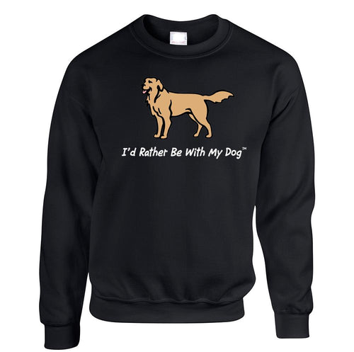 Golden Retriever Crewneck Black