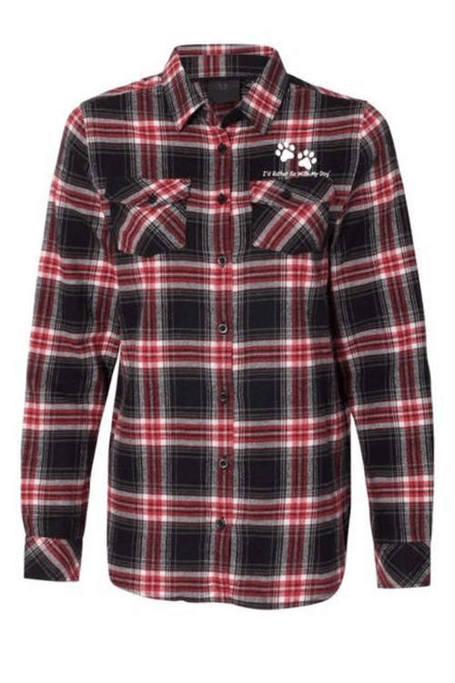 Red and Charcoal Ladies Flannel