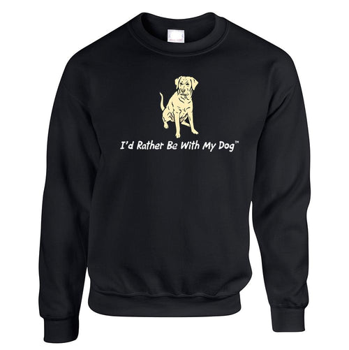 Yellow Lab Crewneck Black