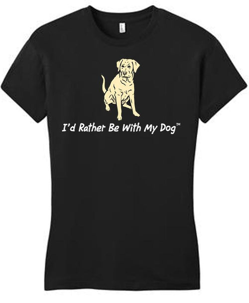 Yellow Lab Ladies T black