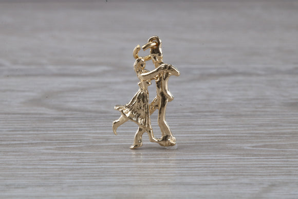 Waltzing Couple Charm in 9 Carat Gold