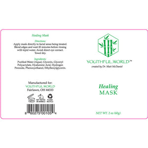Youthful.World Corrective Healing Mask Label