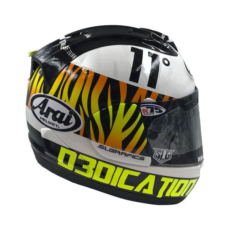 "JR Limited Edition ""El Tigre"" Replica Arai Helmet"