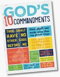 G451 Ten Commandments Pocket Card