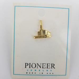 Seattle Temple - Tie Tack - Gold